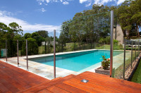 Pool fencing - partially framed