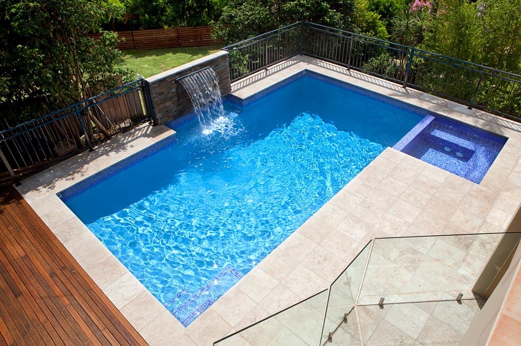 Fully Tiled Spa Oatley Crystal Pools