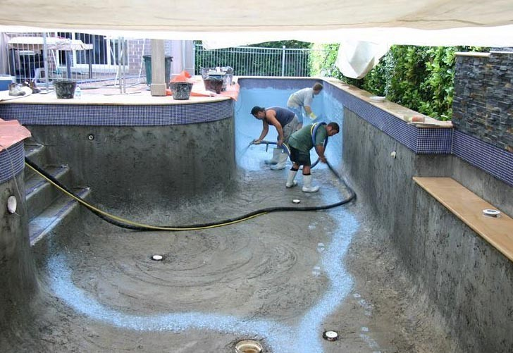 Swimming pool construction process