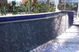 water feature & swimming pool