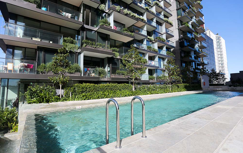 One Central Park Sydney Crystal Pools