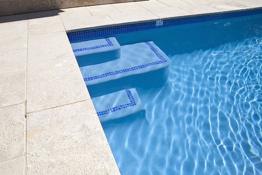 Greatest Swimming pool steps & ledges - Crystal Pools QM84