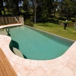 Swimming pool ledges