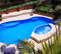 Swimming pool ledges