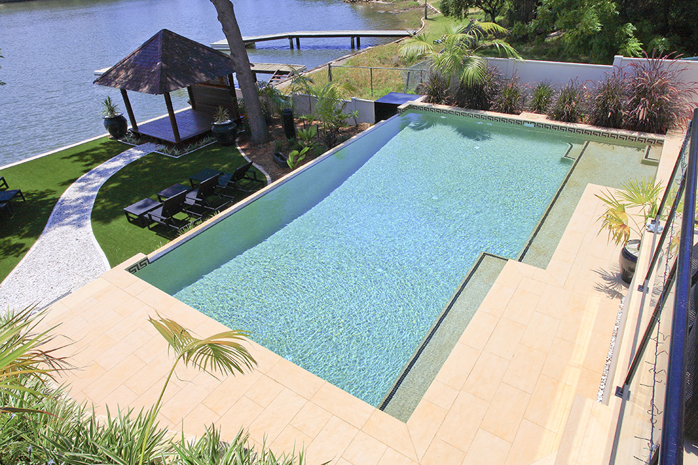 Swimming Pool Steps Ledges Crystal Pools Inspiration Beach Entry Swimming Pool Designs