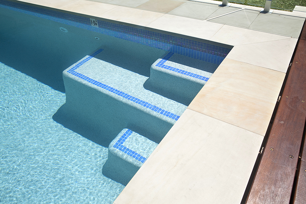 how to clean white pool steps