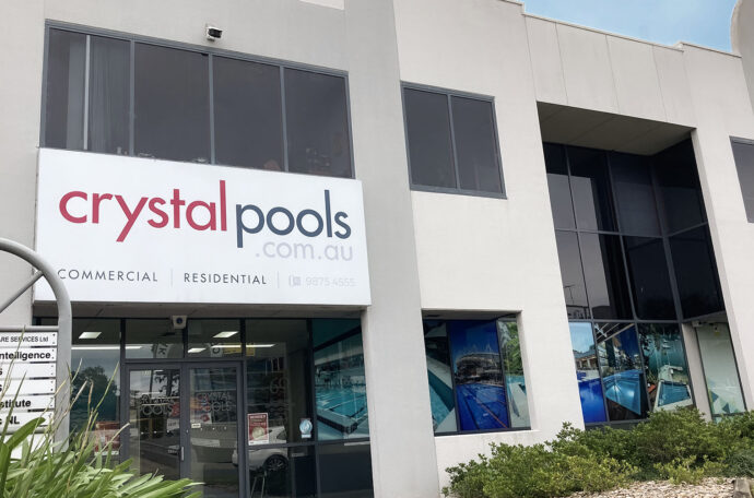 Crystal Pools Office Front