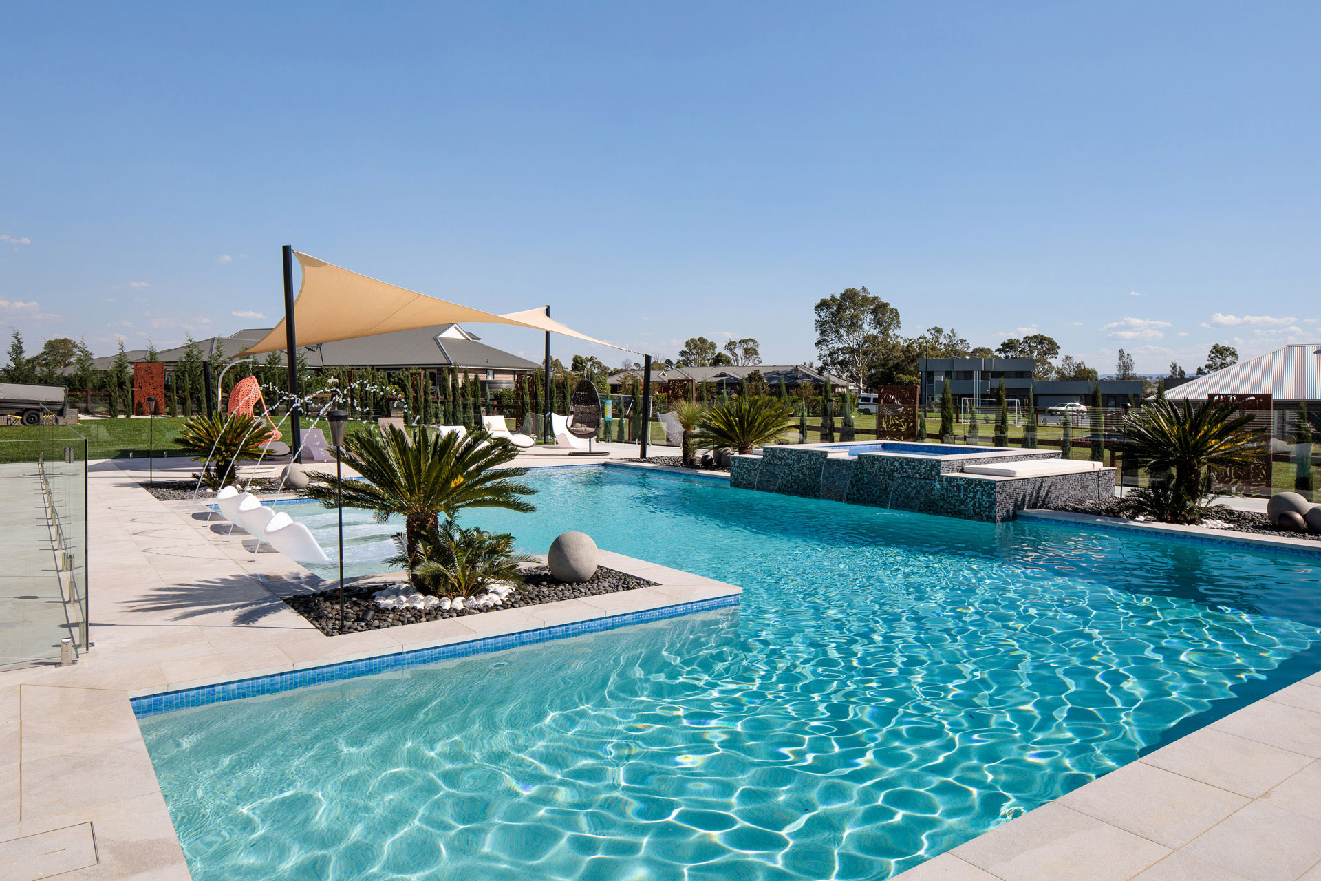 Resort Style Pool Luddenham Crystal Pools